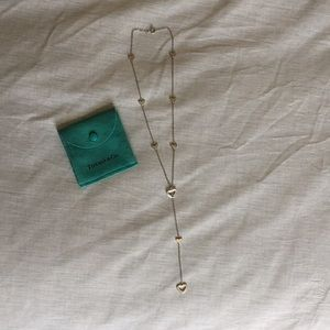 Tiffany and Co. Lariat Multi Heart Necklace